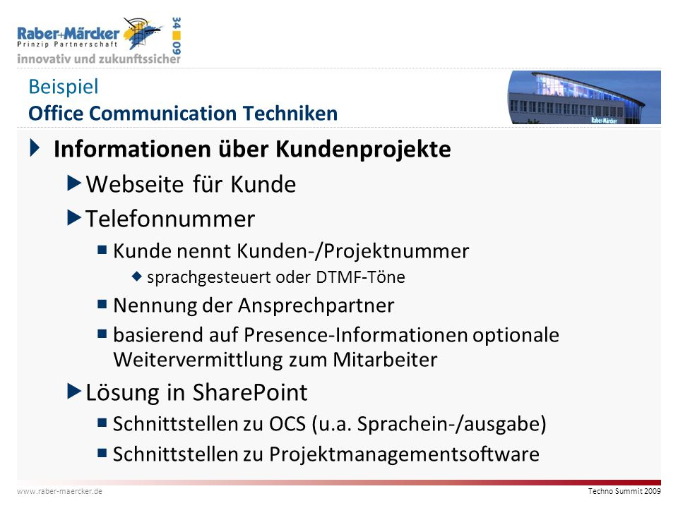 Beispiel Office Communication Techniken