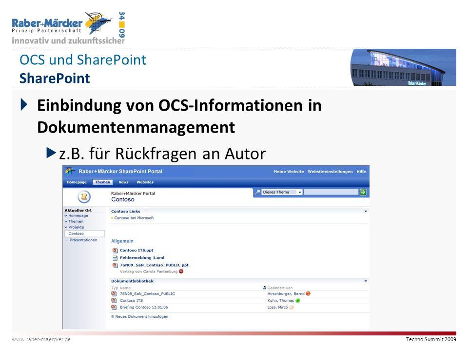 OCS und SharePoint SharePoint