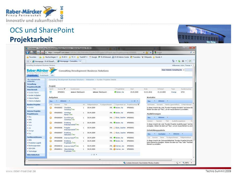 OCS und SharePoint Projektarbeit