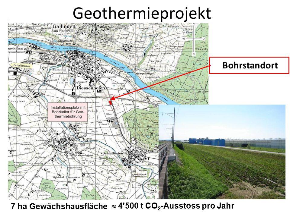 Geothermieprojekt Bohrstandort 7 ha Gewächshausfläche