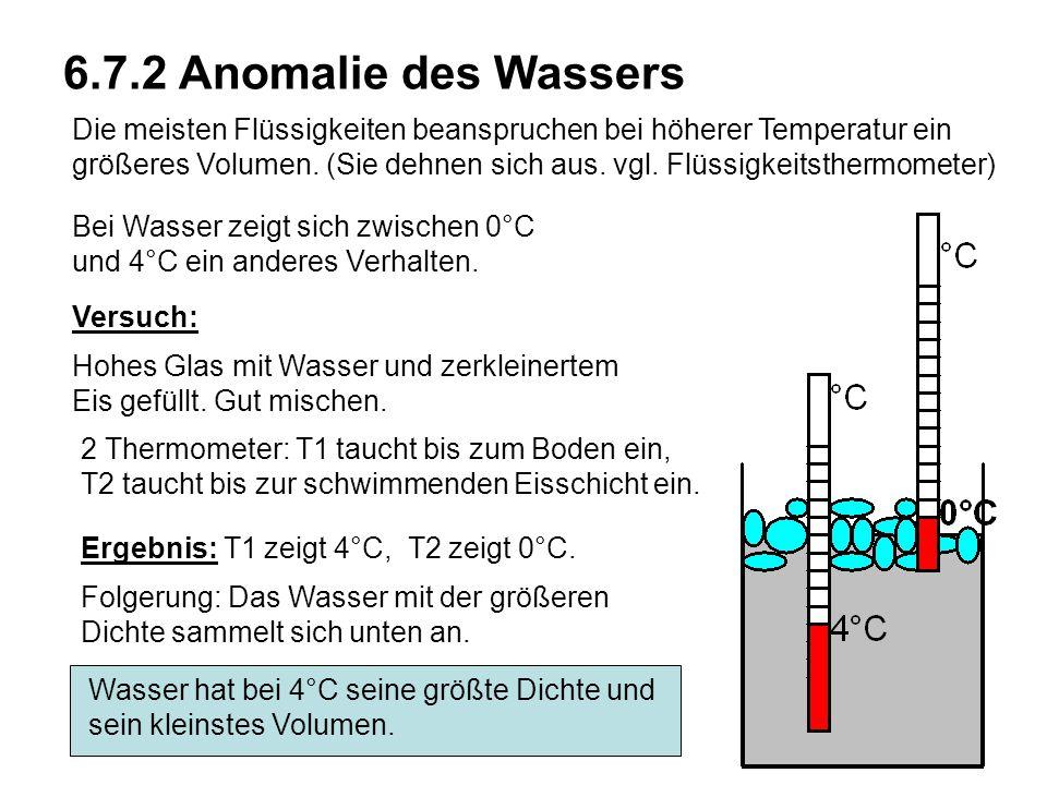 6.7.2 Anomalie des Wassers