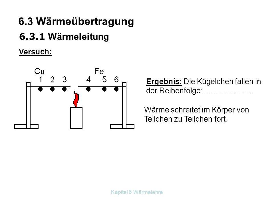 6.3 Wärmeübertragung 6.3.1 Wärmeleitung Versuch: