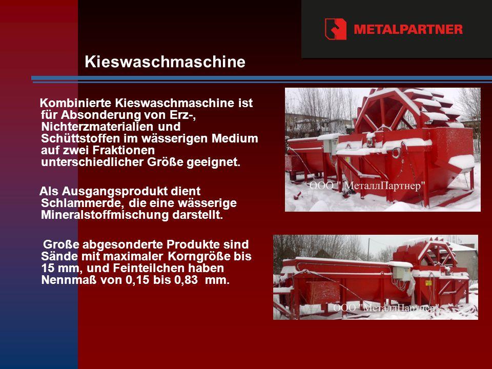Kieswaschmaschine