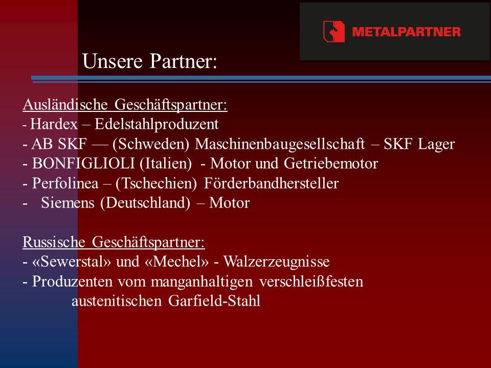 Unsere Partner: Ausländische Geschäftspartner: