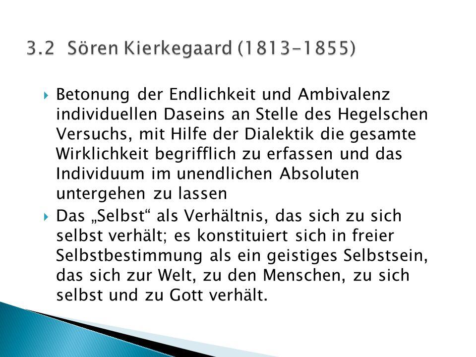3.2 Sören Kierkegaard (1813-1855)