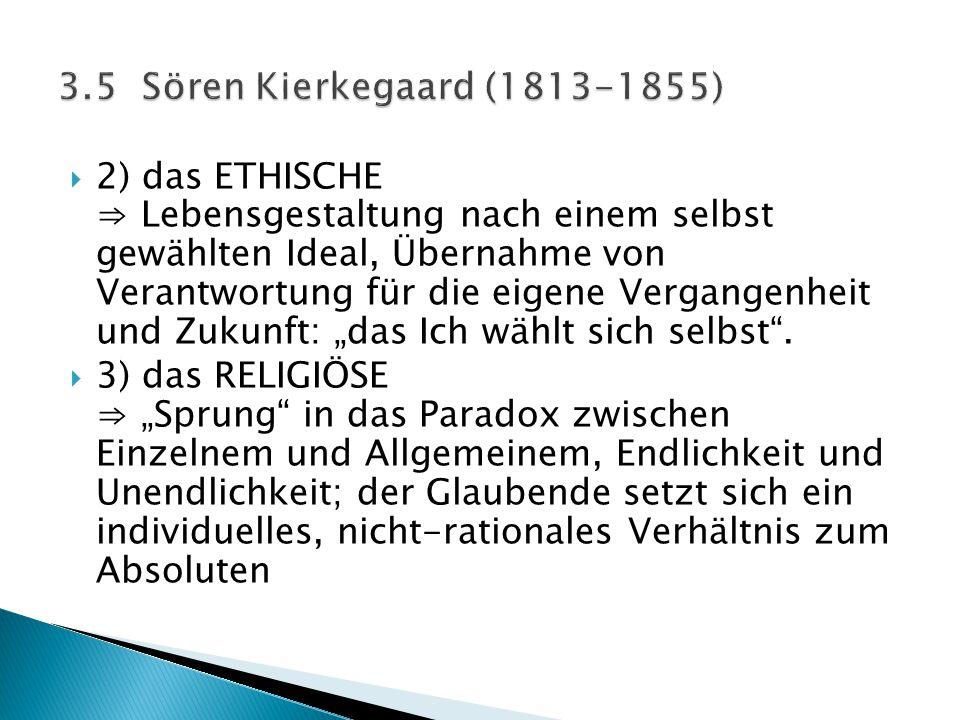 3.5 Sören Kierkegaard (1813-1855)