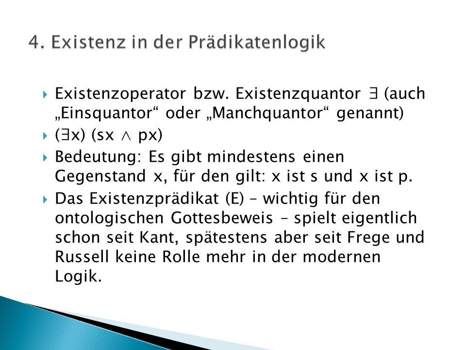 4. Existenz in der Prädikatenlogik