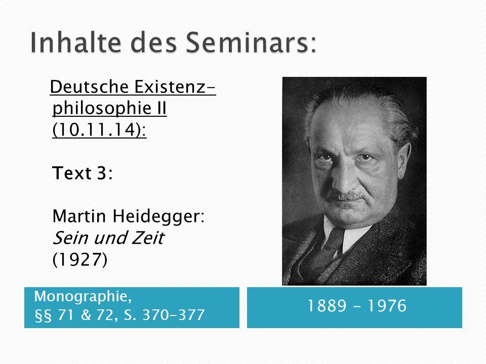 Inhalte des Seminars: philosophie II (10.11.14): Text 3: