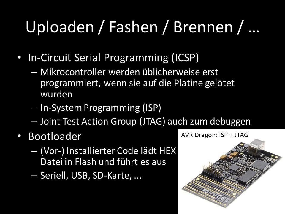Uploaden / Fashen / Brennen / …