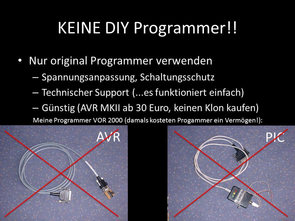 Meine Programmer VOR 2000 (damals kosteten Progammer ein Vermögen!):