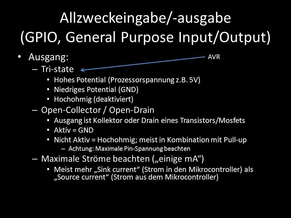 Allzweckeingabe/-ausgabe (GPIO, General Purpose Input/Output)