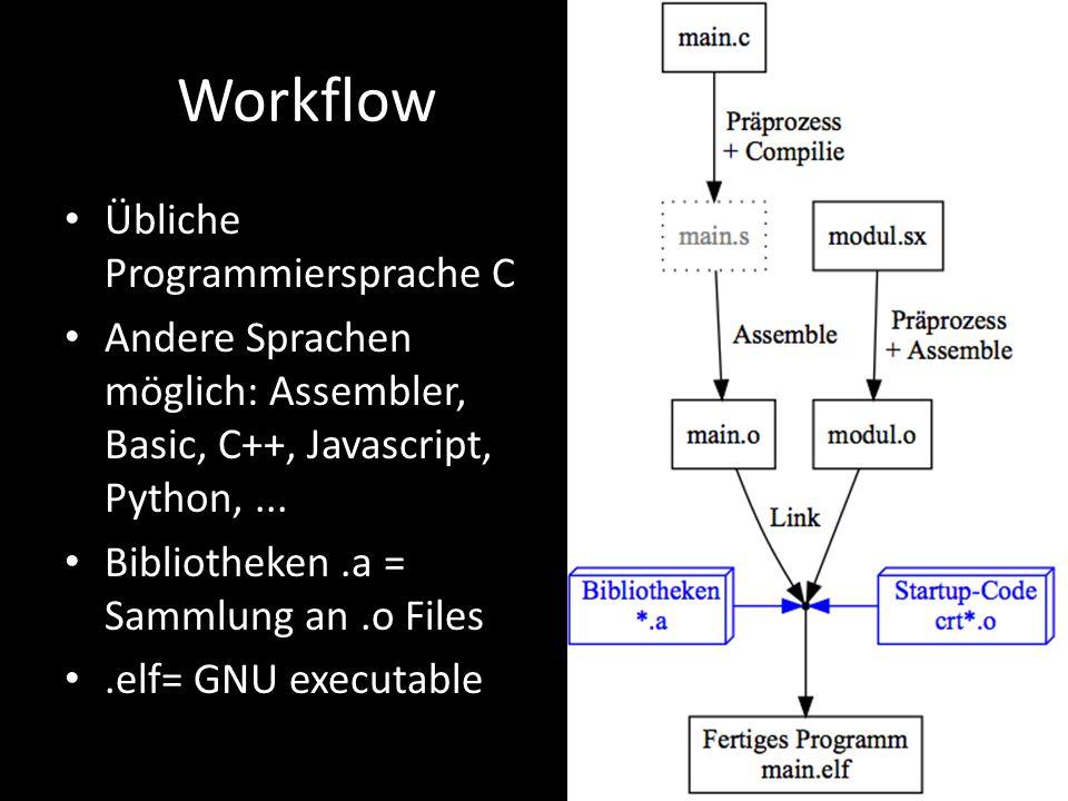 Workflow Übliche Programmiersprache C