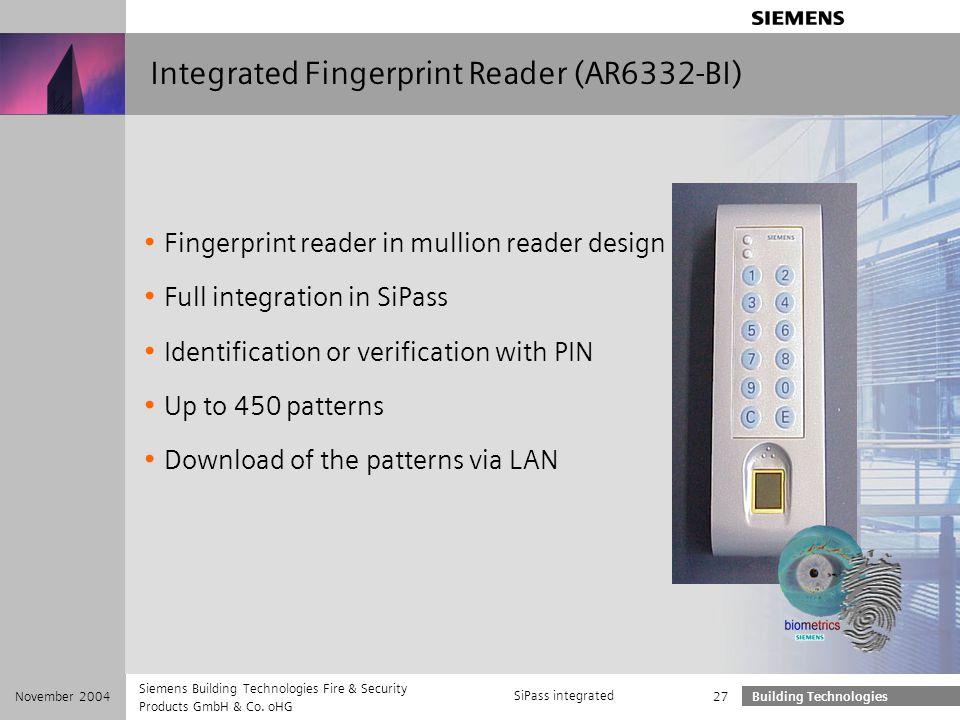 Integrated Fingerprint Reader (AR6332-BI)