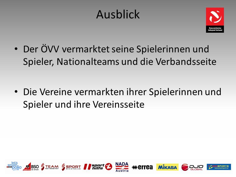 Ausblick Der ÖVV vermarktet seine Spielerinnen und Spieler, Nationalteams und die Verbandsseite.