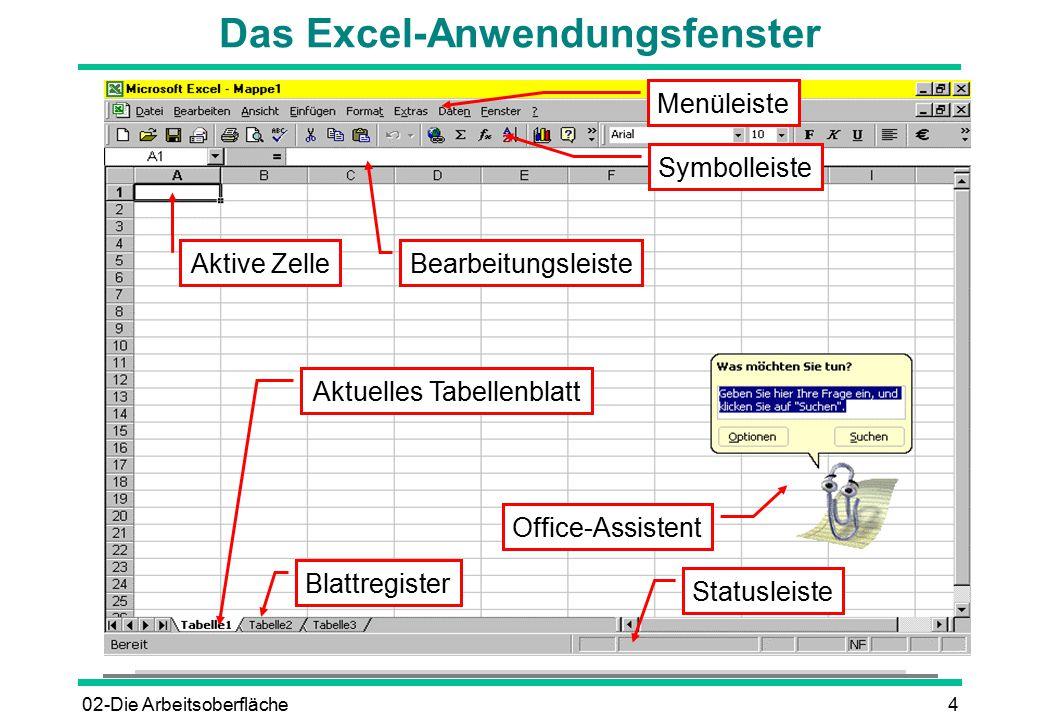 Tabellenblatt Excel Englisch : Excel starten Über das startmenü die arbeitsoberfläche