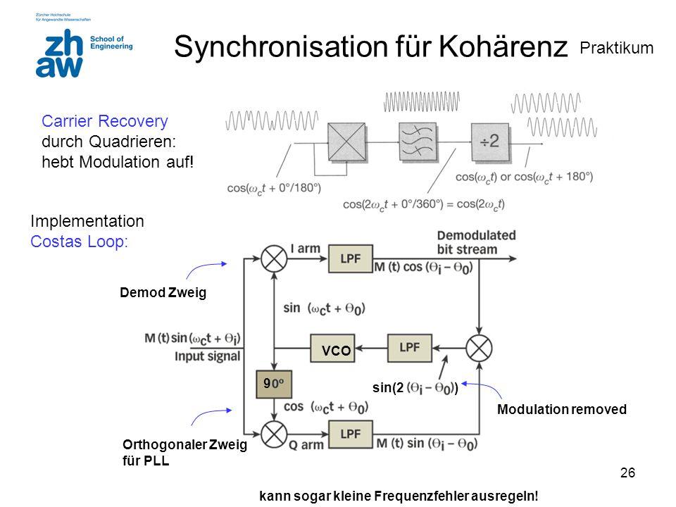 Synchronisation für Kohärenz