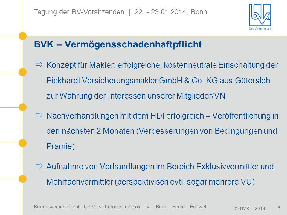 BVK – Vermögensschadenhaftpflicht