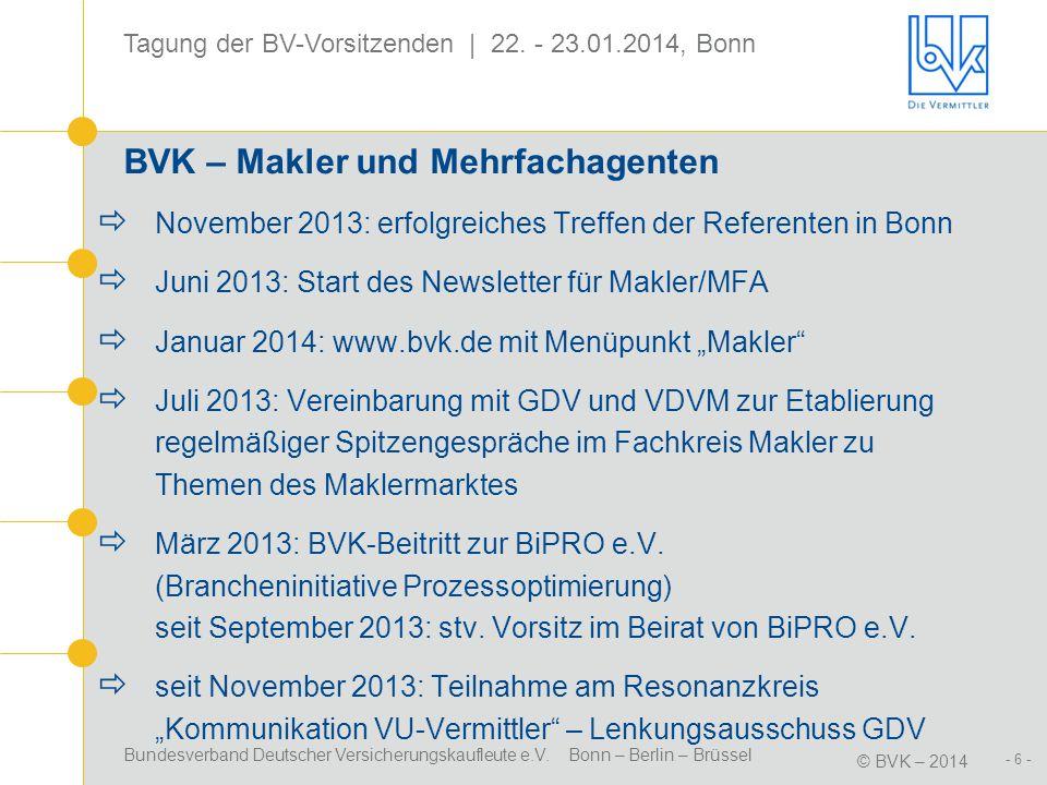 BVK – Makler und Mehrfachagenten
