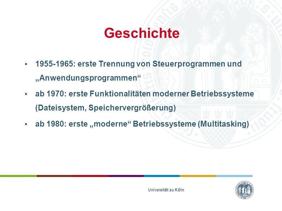 """Geschichte 1955-1965: erste Trennung von Steuerprogrammen und """"Anwendungsprogrammen"""