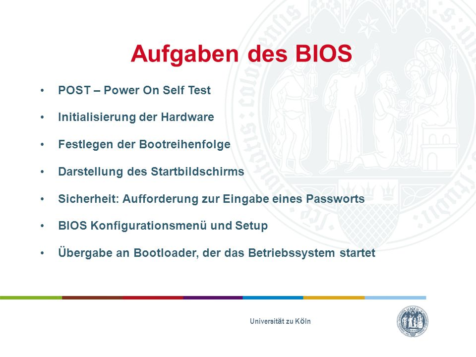 Aufgaben des BIOS POST – Power On Self Test