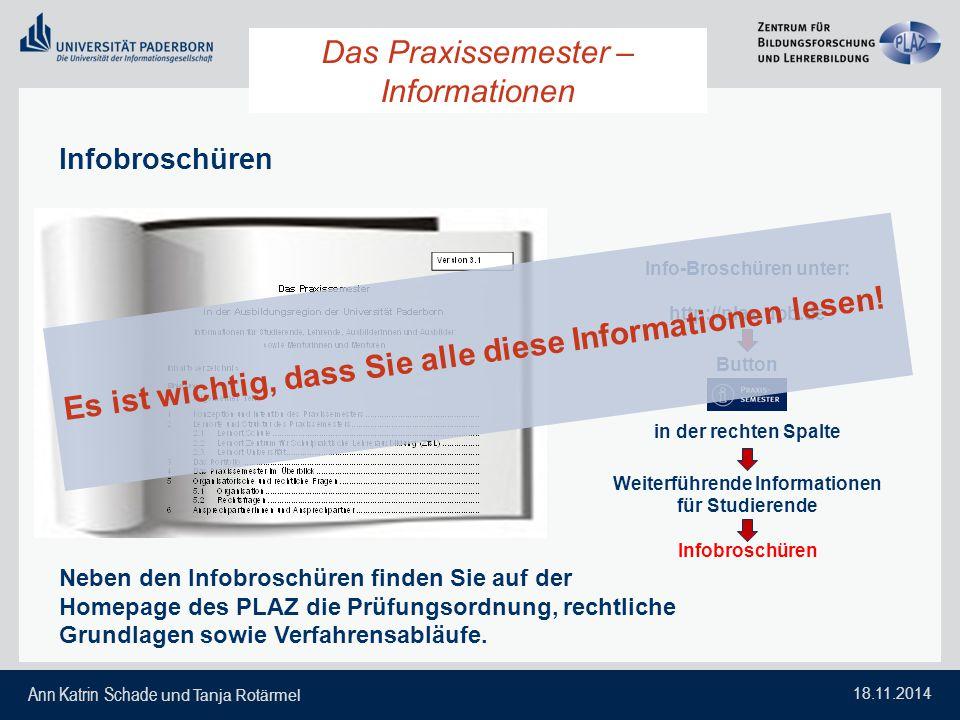 Das Praxissemester – Informationen