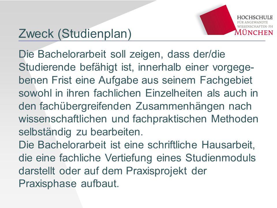 Zweck (Studienplan)