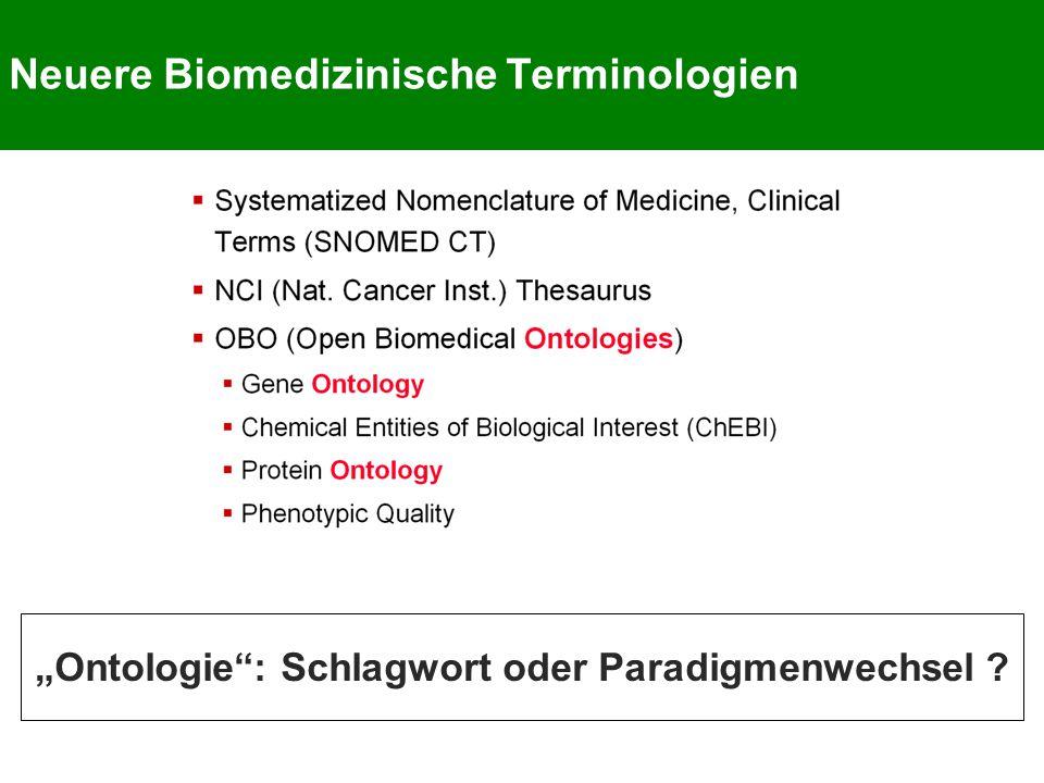 Neuere Biomedizinische Terminologien