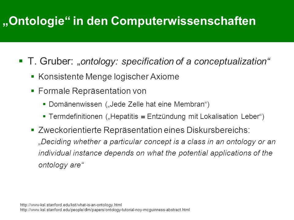 """""""Ontologie in den Computerwissenschaften"""