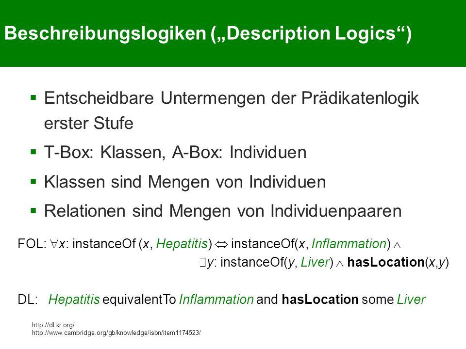 """Beschreibungslogiken (""""Description Logics )"""