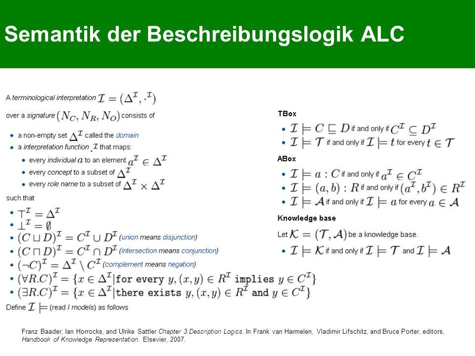 Semantik der Beschreibungslogik ALC