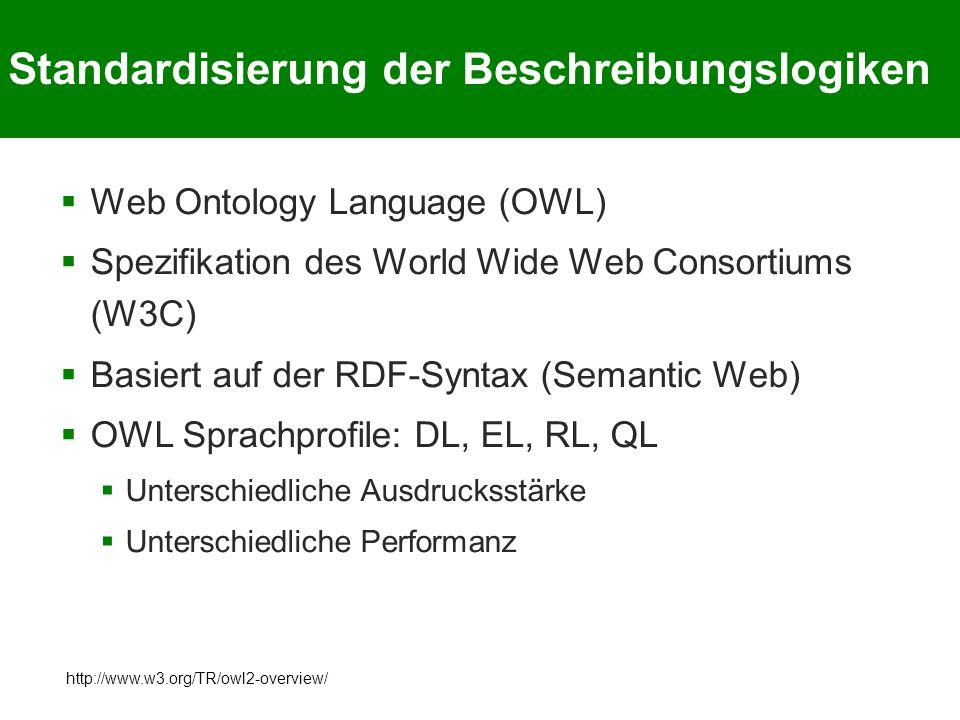 Standardisierung der Beschreibungslogiken