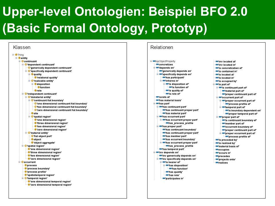 Upper-level Ontologien: Beispiel BFO 2