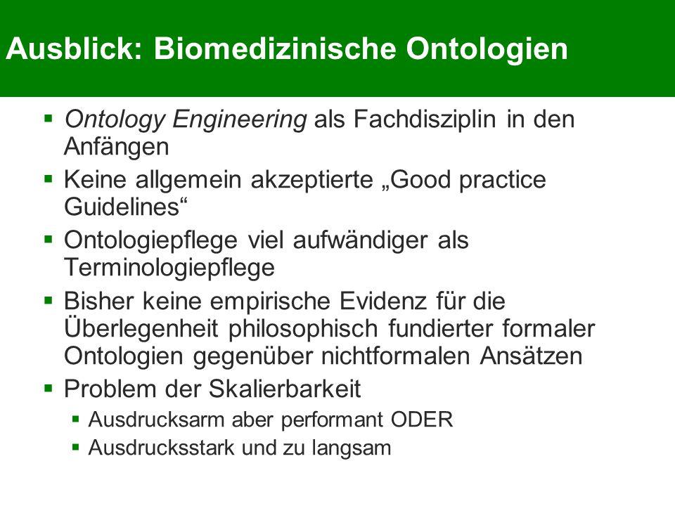 Ausblick: Biomedizinische Ontologien