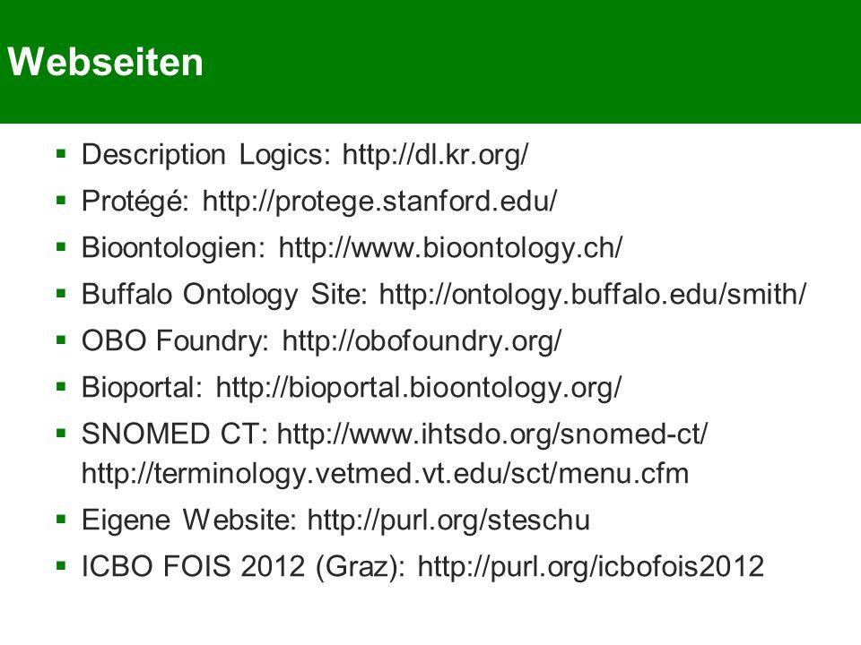 Webseiten Description Logics: http://dl.kr.org/
