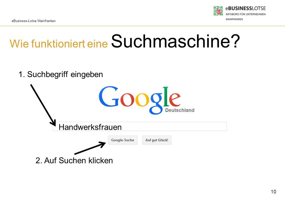 Wie funktioniert eine Suchmaschine