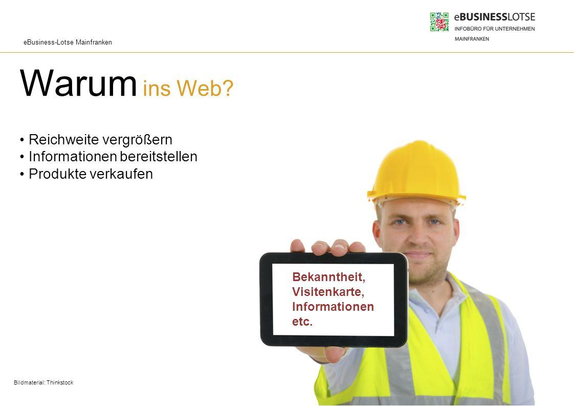 Warum ins Web • Reichweite vergrößern • Informationen bereitstellen • Produkte verkaufen