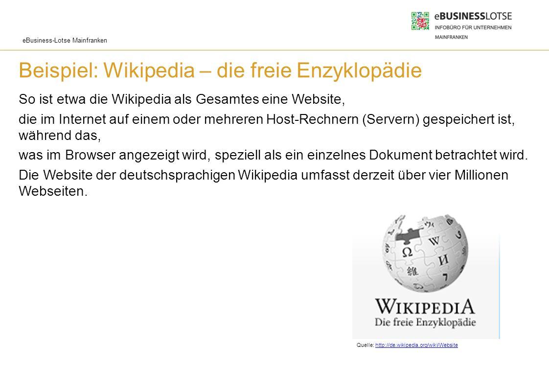 Beispiel: Wikipedia – die freie Enzyklopädie
