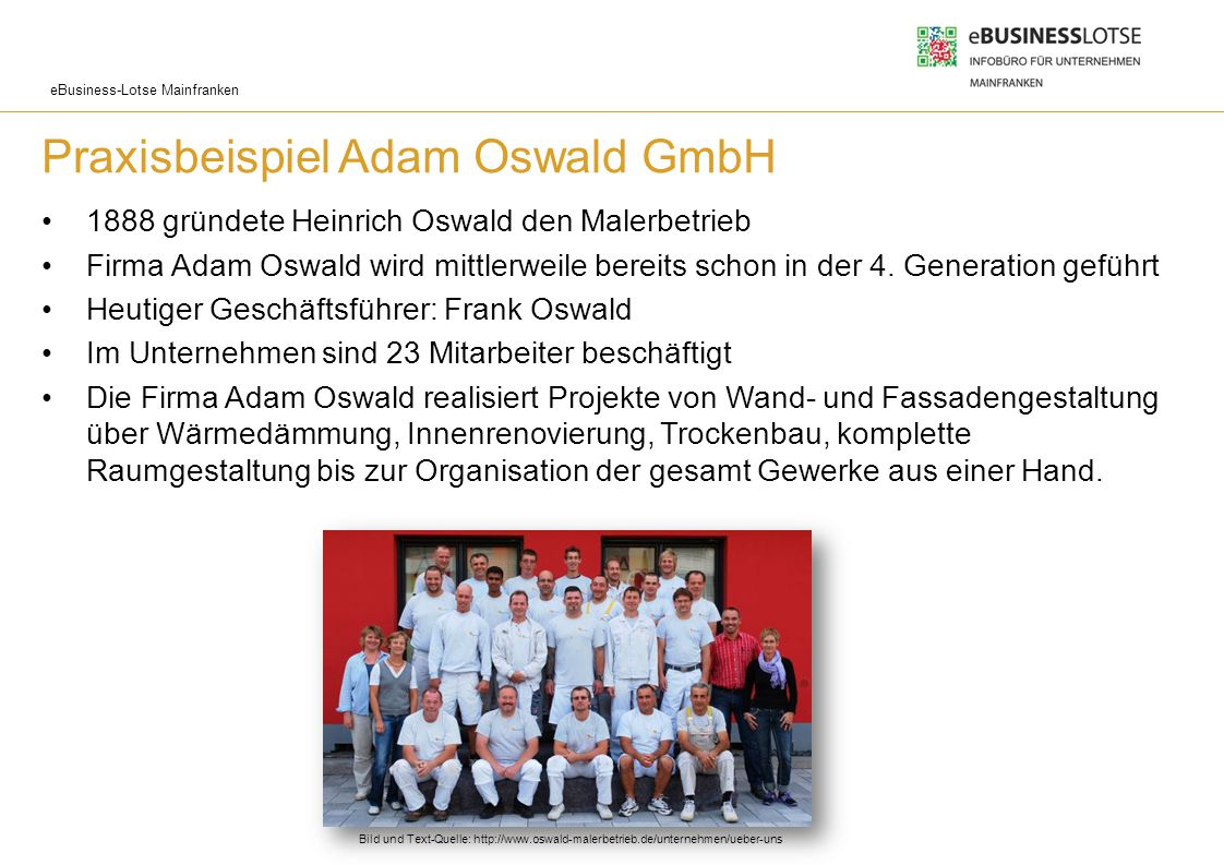 Praxisbeispiel Adam Oswald GmbH