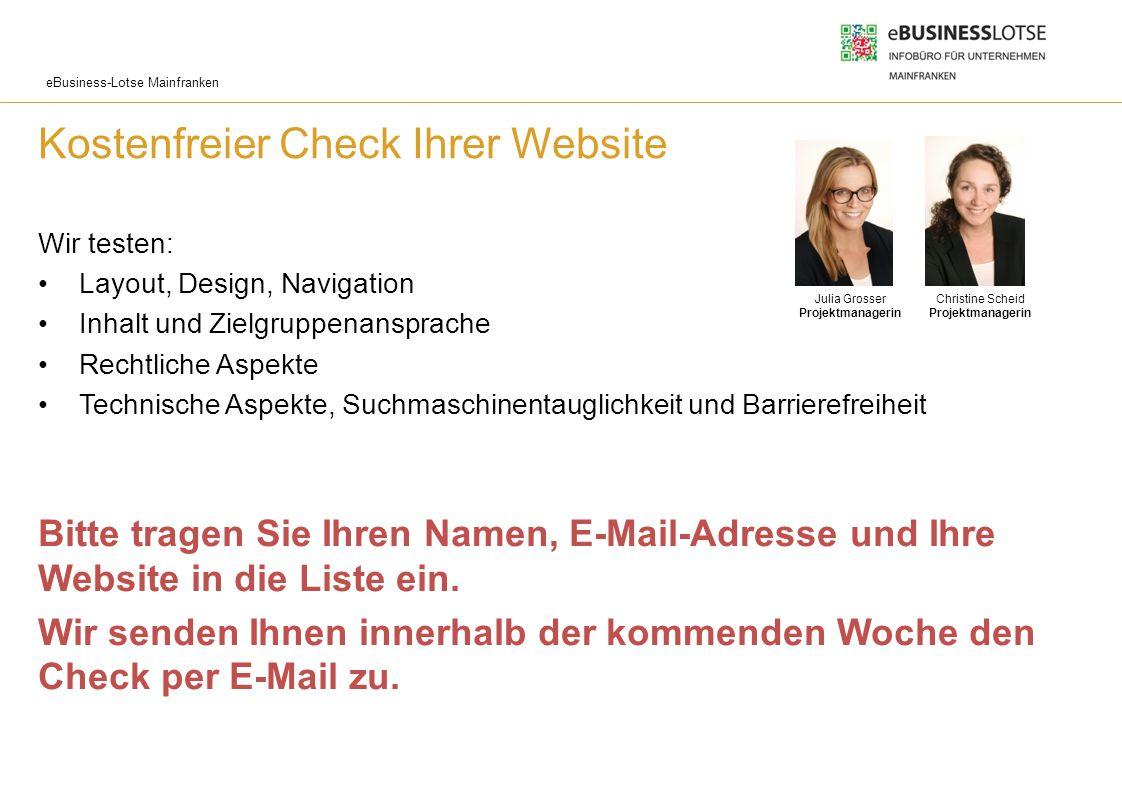 Kostenfreier Check Ihrer Website
