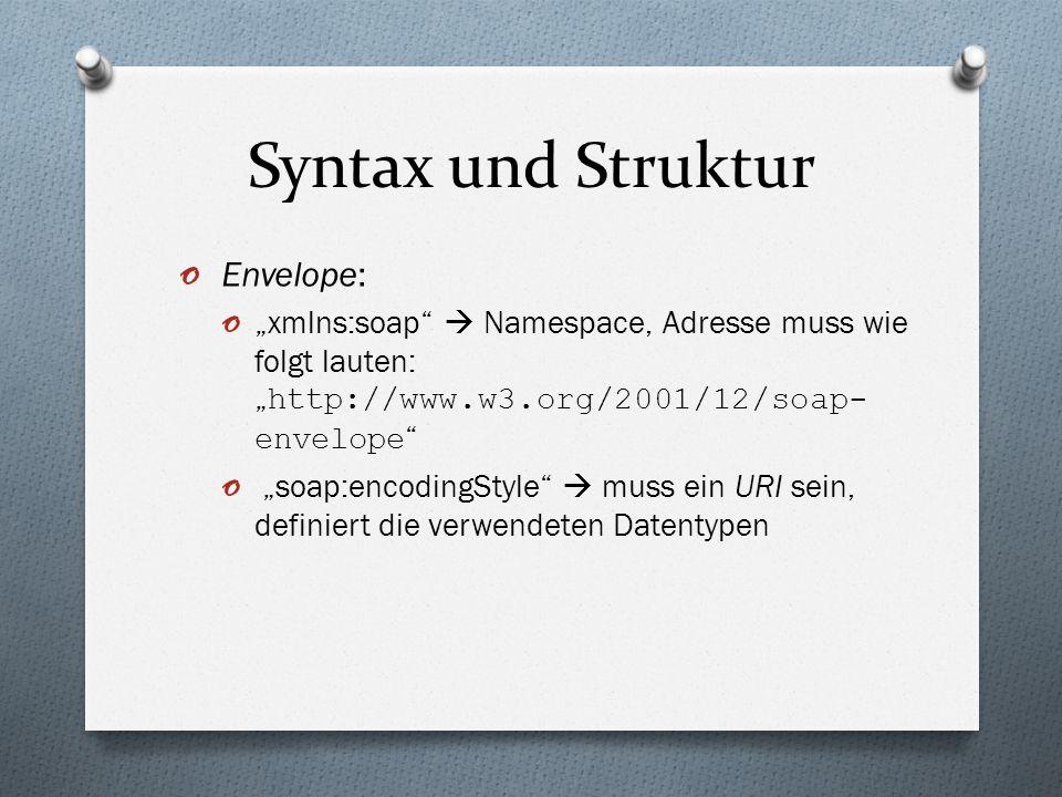 Syntax und Struktur Envelope: