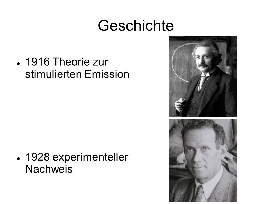 Geschichte 1916 Theorie zur stimulierten Emission