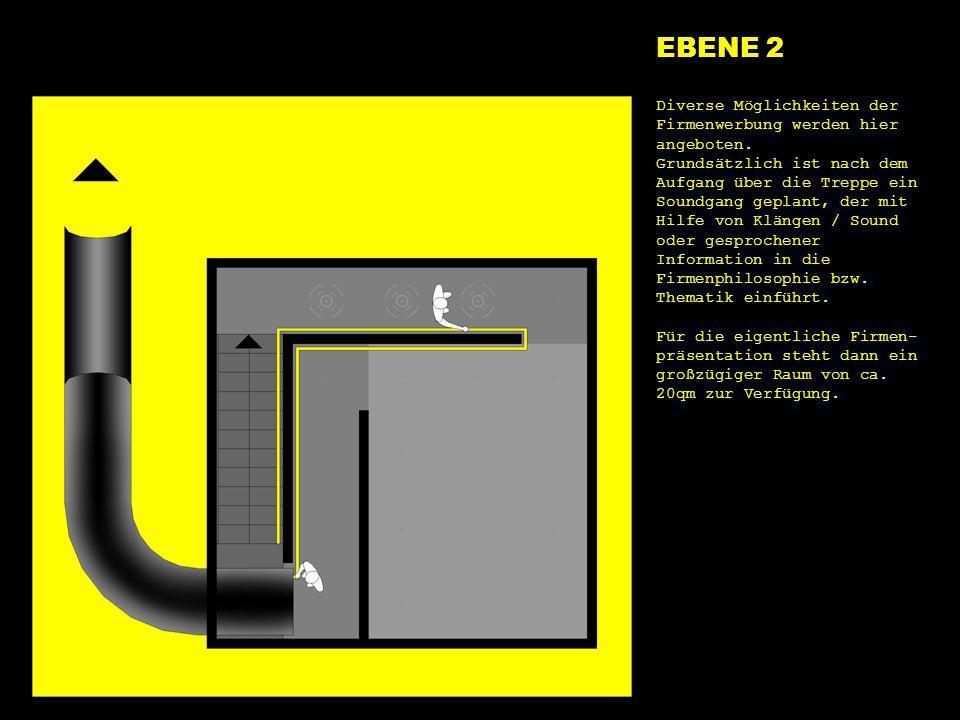 EBENE 2 e2 start. Diverse Möglichkeiten der Firmenwerbung werden hier angeboten.