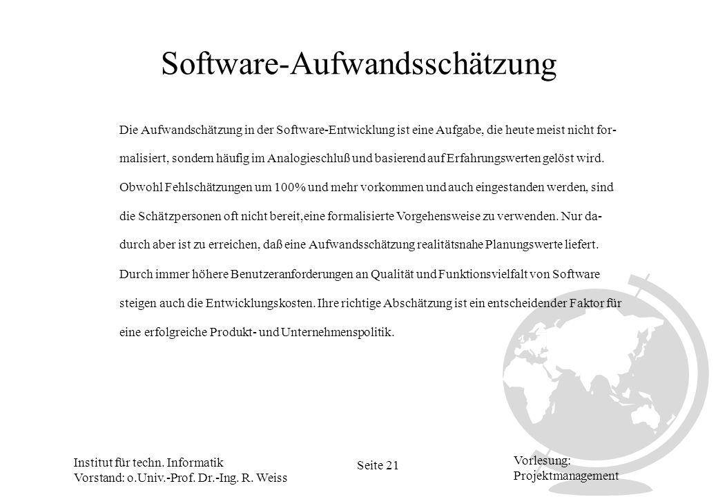 Software-Aufwandsschätzung
