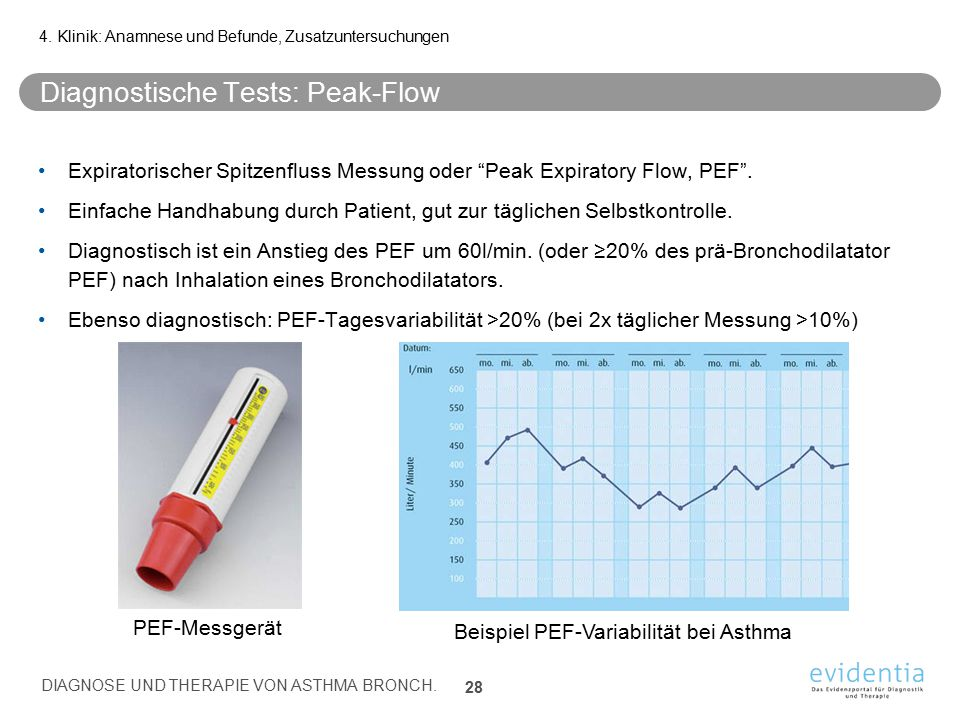 Diagnostische Tests: Peak-Flow