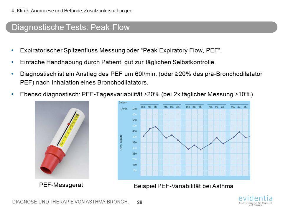 Diagnostische Tests: Peak-Flow