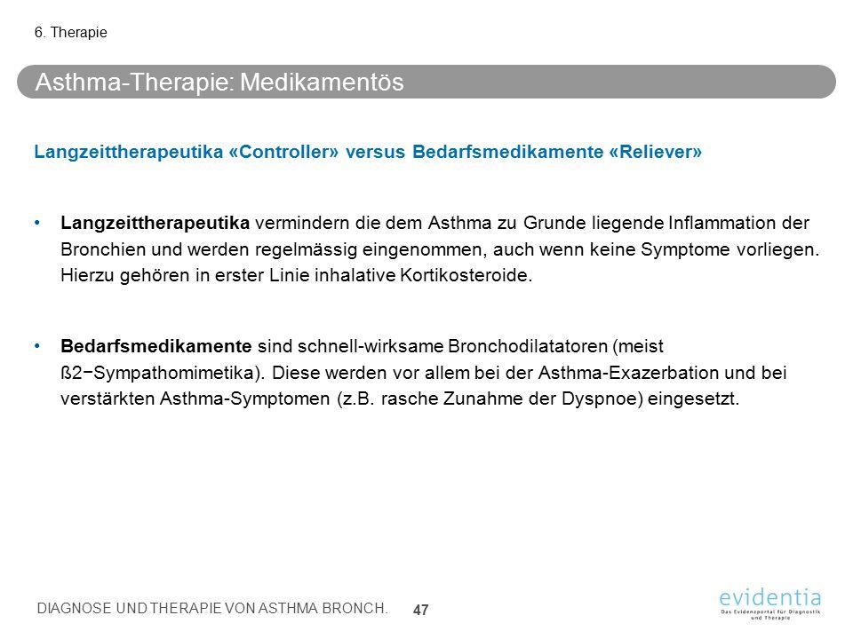 Asthma-Therapie: Medikamentös