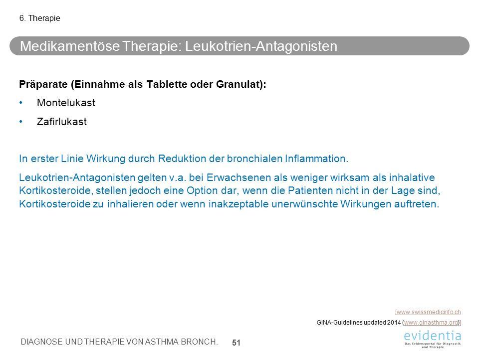 Medikamentöse Therapie: Leukotrien-Antagonisten