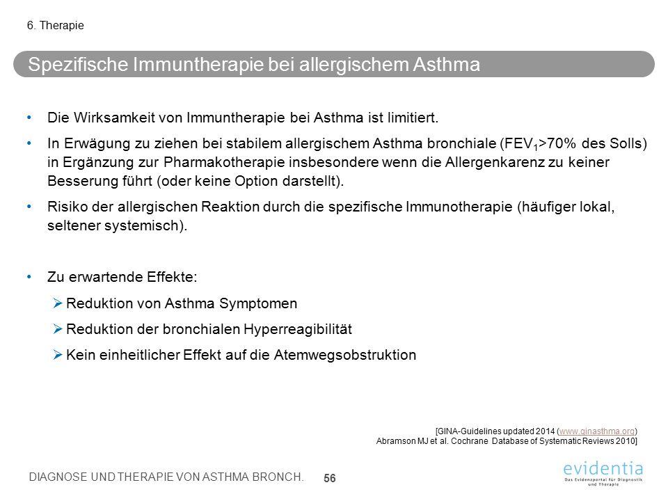 Spezifische Immuntherapie bei allergischem Asthma