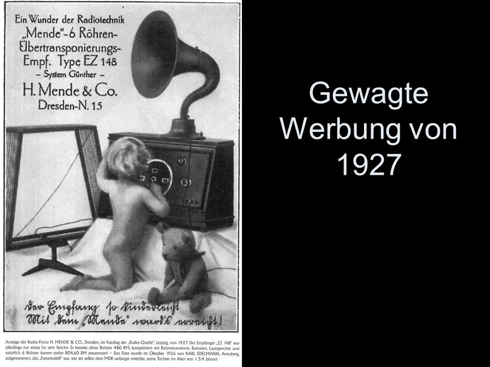 Gewagte Werbung von 1927 -
