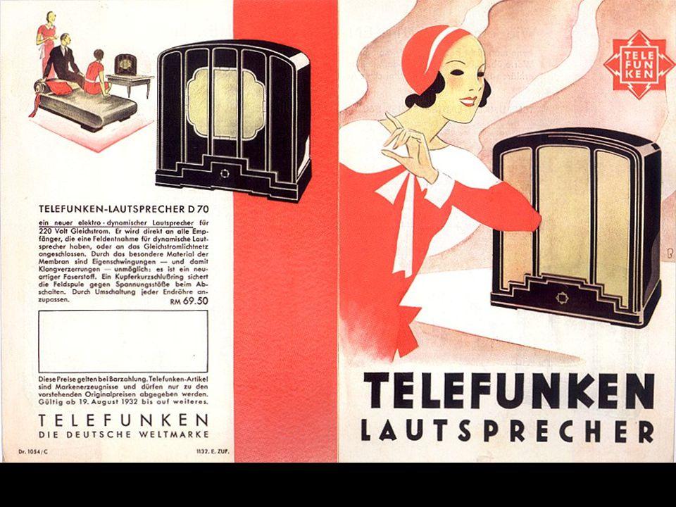 Werbung, ca. 1931. Der linke Lautsprecher steht im technikum29